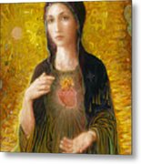 Immaculate Heart of Mary Metal Print