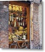 Italian Delicatessen Or Macelleria Metal Print by Jeremy Woodhouse