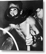 Jacques Cousteau (1910-1997) Metal Print