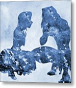 Jane And Tarzan-blue Metal Print
