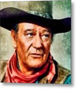 John Wayne, Hollywood Legend By John Springfield Metal Print