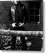 Johnny Cash Gunfighter Hitching Post Old Tucson Arizona 1971 Metal Print