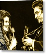 June Carter And Johnny Cash Collection Metal Print