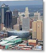 Kansas City Skyline Panorama Metal Print