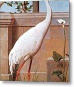 kb Marks Henry-Indian Crane Bullfinch and Thrush Henry Stacy Marks Metal Print