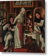 Kitchen In A Convent Metal Print