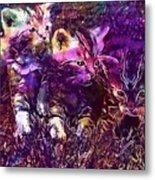 Kittens Cat Cat Puppy Rush  Metal Print