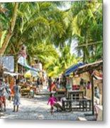 Koh Rong Island Main Village Bars In Cambodia Metal Print