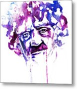 Kurt Vonnegut Metal Print by Alexandra-Emily Kokova
