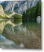 Lago Di Braies Metal Print