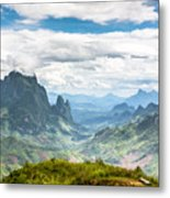 Landscape Around Kasi In North Laos Metal Print