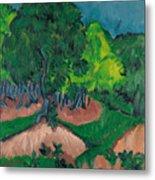 Landscape With Chestnut Tree Metal Print