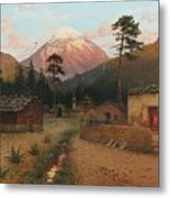 Landscape With Volcano Metal Print