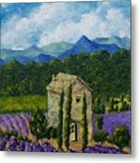 Lavender Farm Metal Print