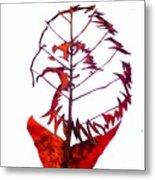 Leafcarving Metal Print