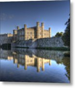 Leeds Castle Reflections Metal Print