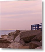 Lexington Harbor At Sunset Metal Print