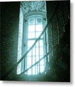 Light Through The Currituck Window - Text Metal Print