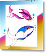 2 Little Fish Metal Print