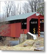 Little Gap Covered Bridge Metal Print