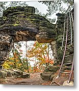 Little Pravcice Gate - Famous Natural Sandstone Arch Metal Print