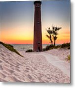 Little Sable Point Light Station Metal Print