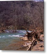 Long Pool Log Jam Metal Print
