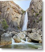 Lower Yosemite Fall In The Famous Yosemite Metal Print