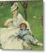 Madame Monet And Her Son Metal Print