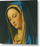Madonna At Prayer Metal Print