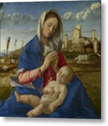 Madonna Of The Meadow Metal Print