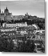 Madrid Panorama From Debod Lookout Madrid Spain Metal Print