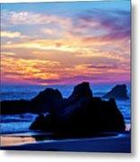 Magical Sunset - Harris Beach - Oregon Metal Print