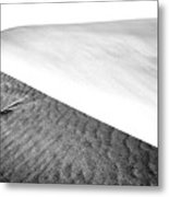 Magnificent Sandy Waves On Dunes At Sunny Day Metal Print