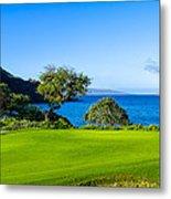 Makena Golf Course In Makena Area Metal Print