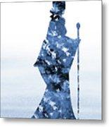 Maleficent-blue Metal Print
