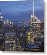 Manhattan Skyline New York Metal Print