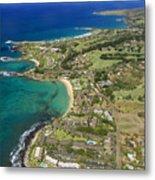 Maui Aerial Of Kapalua Metal Print