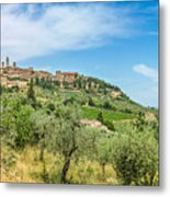 Medieval Town Of San Gimignano, Tuscany, Italy Metal Print