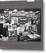 Merchandise George Mcgovern For President Democratic Nat'l Convention Miami Beach Florida 1972 Metal Print