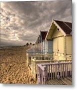 Mersea Island Beach Huts Metal Print