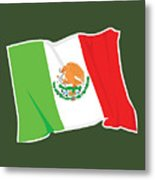 Mexico Flag Metal Print