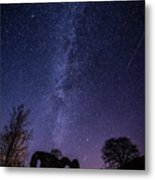 Milky Way Over The Ruins Of Strata Florida Abbey, Wales Uk Metal Print