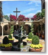 Mission Inn Chapel Courtyard Metal Print