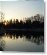 Mississippi River Sunrise Reflection Metal Print
