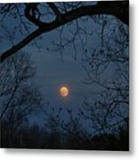Misty Moonrise Metal Print