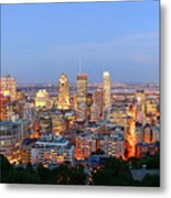 Montreal At Dusk Panorama Metal Print