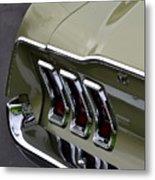 Mustang Fastback Metal Print
