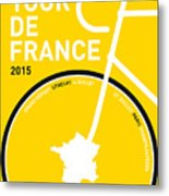 My Tour De France Minimal Poster Metal Print