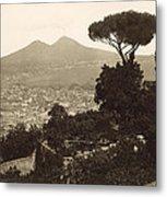 Naples: Mt. Vesuvius Metal Print